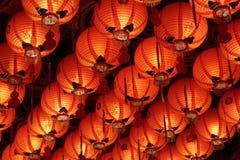 Close up do telhado completamente de lanternas chinesas Fotos de Stock Royalty Free