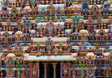 CLOSE UP DO TEMPLO HINDU DE SRIRANGAM Foto de Stock Royalty Free