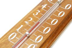Close up do termômetro Fotos de Stock Royalty Free