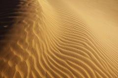 Close-up do teste padrão da areia no deserto Foto de Stock Royalty Free