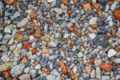 Close up do tijolo esmagado e da textura concreta Foto de Stock