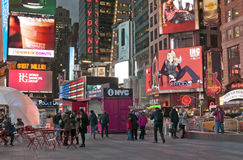 Close up do Times Square Fotografia de Stock Royalty Free