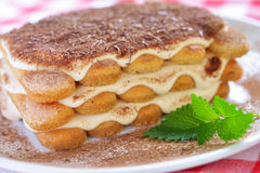 Close up do Tiramisu Foto de Stock Royalty Free