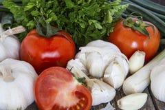 Close up do tiro dos vegetais crus Fotografia de Stock