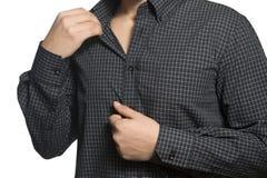Close up do torso do homem de negócio desconhecido seguro Imagens de Stock