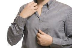 Close up do torso do homem de negócio desconhecido seguro Foto de Stock Royalty Free