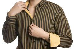 Close up do torso do homem de negócio desconhecido seguro Imagem de Stock Royalty Free
