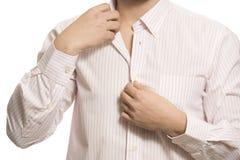 Close up do torso do homem de negócio desconhecido seguro Imagens de Stock Royalty Free