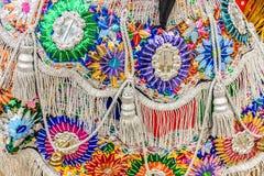 Close-up do traje tradicional do dançarino popular, Guatemala Foto de Stock Royalty Free