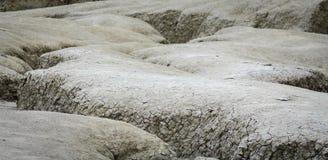 Close-up do vintage com a terra secada coberta com as quebras naughty fotografia de stock