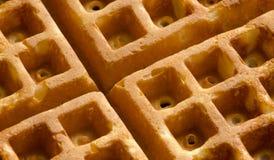 Close up do waffle Fotos de Stock Royalty Free