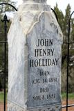 Close up of Doc Holliday Headstone Stock Photography