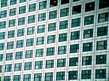 Close Up Docklands. This is a close up view of Canary Wharf in the London's Docklands Royalty Free Stock Photo
