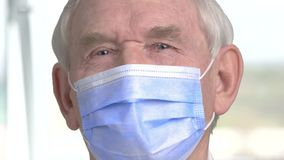 Close up doctor face with mask. stock footage