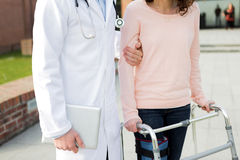 Close up of a doctor helping patient Stock Photo