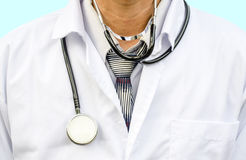 Close-up doctor with stethoscope Royalty Free Stock Image
