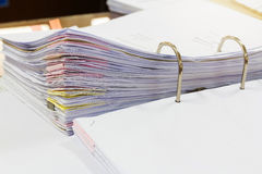Close up documents in file folder Stock Photography
