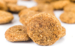 Close up of Dog Kibbles Royalty Free Stock Photos