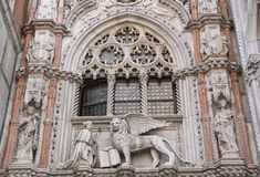 Close up of Doge Palace (Venice, Italy). Close up of Doge Palace at San Marco Square (Venice, Italy Royalty Free Stock Images