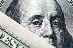 Close up of dollar bill Royalty Free Stock Image