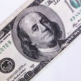 Close up of dollar bill Royalty Free Stock Photo