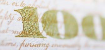Close up of dollar bill Stock Photography