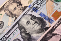 Close up of dollar bill Royalty Free Stock Photography