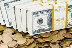 Close up of dollars Stock Photo