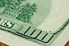 Close-up 100 dollars Stock Afbeelding