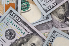Close up of dollars Stock Photos