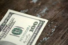 Close-up of a 100 dollars banknotes Royalty Free Stock Photo