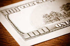 Close-up 100 dollars Stock Photo