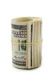 Close up of dollars roll Royalty Free Stock Photos