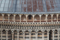 Close up of the dome of Duomo di Siena. Metropolitan Cathedral of Santa Maria Assunta. Tuscany. Italy. Royalty Free Stock Photo