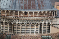 Close up of the dome of Duomo di Siena. Metropolitan Cathedral of Santa Maria Assunta. Tuscany. Italy. stock image