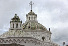 Close-up of the dome of the metropolitan cathedral of Quito Royalty Free Stock Photo