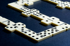 Close up of dominoes. Royalty Free Stock Photography