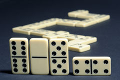 Close-up the dominoes. Royalty Free Stock Image