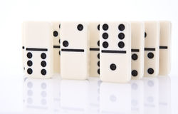 Close up of dominos Royalty Free Stock Photography