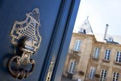 Close up of a door knocker stock image