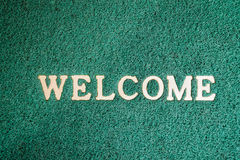 Free Close-up Door Mat With Welcome Word Royalty Free Stock Photo - 71967685