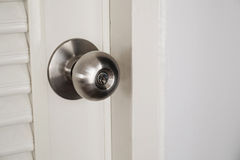 Close-up door stainless door knob Royalty Free Stock Photos