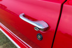 Close up door of vintage car Stock Image