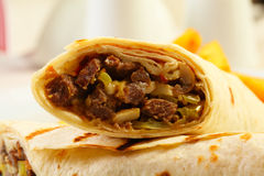 Close up of dorum doner kebab Stock Photography