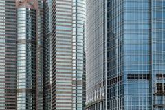 Close up dos arranha-céus em Hong Kong Foto de Stock Royalty Free