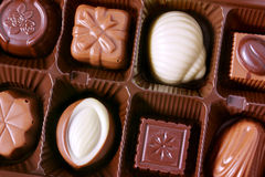 Close up dos chocolates Fotografia de Stock Royalty Free