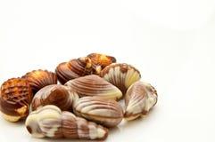 Close-up dos chocolates doces Imagens de Stock Royalty Free
