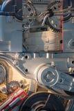 Close-up dos componentes de motor Ciência de engenharia mecânica e t fotos de stock royalty free
