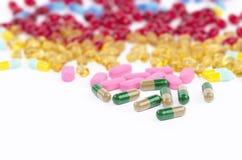 Close up dos comprimidos da prescrição Fotos de Stock Royalty Free