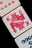 Close-Up dos dados do póquer imagens de stock